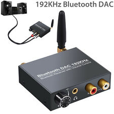 Audio Converter Bluetooth DAC Digital Optical Coaxial Toslink to Analog RCA NEW