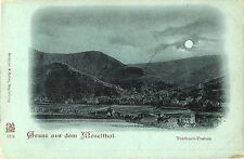 Traben-Trarbach by Moonlight,  Gruss aus dem Moselthal, Germany 1905
