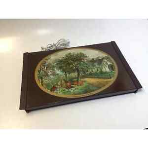 """Currier & Ives Electric Warming Tray Vintage  """"Autumn"""" model 1116 100 Watts"""