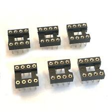 "US Stock 10pcs 8 Pin 8P DIP IC Socket 0.1"" Pitch 0.3"" Row Spacing Round"