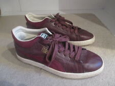 PUMA STEPPER MEN'S MAROON LEATHER TRAINERS SIZE 11
