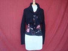 New Inc International Concepts Black Angora Rabbit Hair Women's Cardigan Shrug S