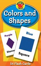 Colors and Shapes Flash Cards Baby Child Early Learning Learn First Words Card