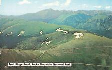 Postcard Rocky Mountain National Park Trail Riidge Road