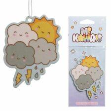 NEW Cute Kawaii Happy Clouds & Sun Hanging Car Air Freshener Raspberry Scented