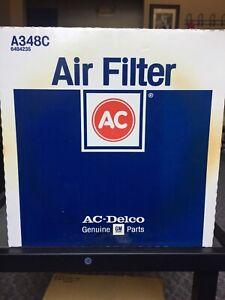 AC Delco A348C Air Filter Genuine GM Parts, Replaces FRAM CA326 or Wix 42098 NOS