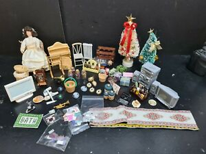 dolls house accessories job lot of 60 mixed household items 1.12th Y3