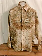 Vintage 1970s Chemise Et Cie Awakening Of Scheherazade Disco Shirt Xl