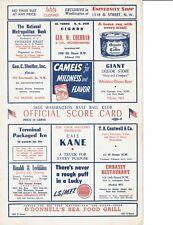 1950 Washington Senators Scorecard program vs.CHICAGO WHITE SOX / NELLIE FOX #26