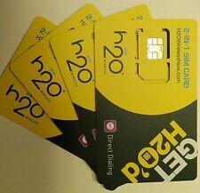 NEW PREPAID FACTORY DUAL SIM CARD H2O WIRELESS SIM CARD 2-IN-1 SIM(MICRO OR REG)