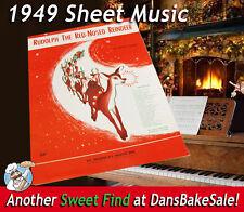 Sheet Music Rudolph the Rednosed Reindeer Johnny Marks 1949 Vintage St. Nicholas