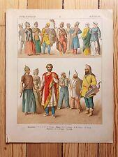 Eastern European Costume - 1882 - Fashion History, Original Print, chromolitho