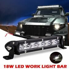 7Inch 18W Single Row Spot LED Work Light Bar Driving Lamp Fog Off Road SUV Truck