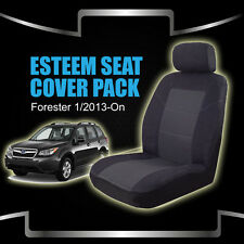 Custom Subaru Forester Seat Covers 1/2013-On Airbag Deploy Safe Black Front & Re