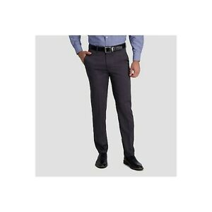 Haggar H26 No Iron Straight Fit Men's Performance Dress Pants 4-Way Stretch