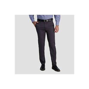 Haggar H26 No Iron Straight Fit Men's Performance Dress Pants 4-Way Stretch