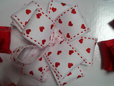 Red & White Hearts Ribbon, Bows, Decorative, Crafts, cupcakes, bows