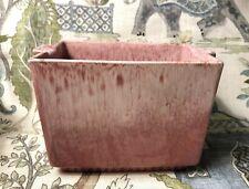HAEGER 3711 vintage Mid century Art Deco Pink 4x6 Rectangular pottery planter