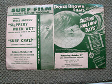 Vintage Bruce Brown Surf movie poster surfing hollow days surfboard surfer rare