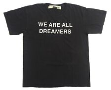 """Off-White c/o Virgil Abloh """"Main Label"""" We Are All Dreamers Large Black T Shirt"""