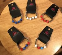 Paparazzi Starlet Shimmer Girls Patriotic Star Bracelets Set Of 5 ~ *NEW* ~*WOW*