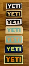 YETI DECALS/STICKERS - AUTHENTIC - RECTANGLE - NEW