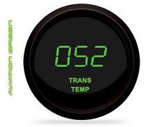 GREEN LED Digital Transmission Temperature Gauge Intellitronix Trans Black Bezel