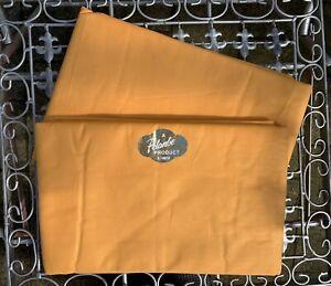 🤍Vintage NOS 60s PELANBE Gold/Orange Cotton Flat Sheet Set   80 x 99 Inches