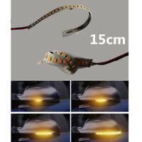 15cm 28 LED Gelb Auto Außenspiegel Blinker Lichtleiste Sequentiell LAUFEFFEKT 2x