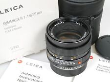 LEICA SUMMILUX-R 1,4/50 ROM 11343  orig. Verpackung ROM and boxed R 1:1,4/50 mm