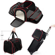 Expandable Pet Carrier For Small Dogs Cats Soft Airplane Kennel Car Travel Bag
