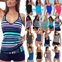 Women Tankini Set Push-up Bra Bikini Monokini Swimsuit Swimwear Swimming Costume