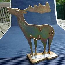 Sculpture Découpage Design Renne Formes Epurés 17x13x4,5 Cm - 665 Grs Epais 1 cm