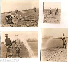 LOT 4 OLD PHOTOS 1937 Handy Waggoner watering wheat NETHERSEAL Netherseale 614 R