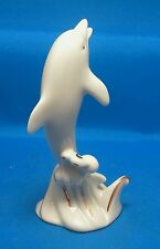 Lenox Collections Ivory & Gold Dolphin Figurine
