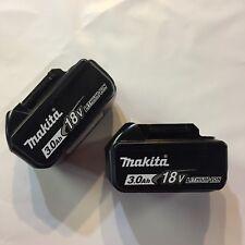 Original Makita 18 volt Lithium Batteries 2 pk 3.0 amp New Bl1830
