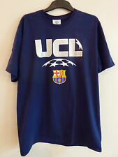 Official Boys Champions League Barcelona Football T Shirt 13 Years BNWT* Navy