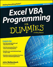 Excel VBA Programming for Dummies, 4th Edition by John Walkenbach (Paperb. 2015)