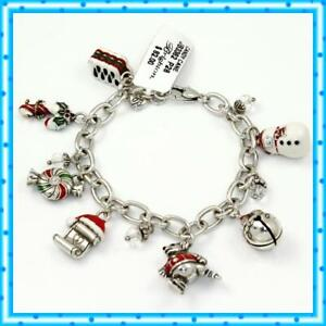 Brighton Candy Cane Xmas Charm Bracelet NWT $82