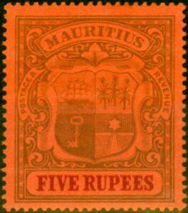 Mauritius 1902 5R Purple & Carmine-Red SG155 Fine Mtd Mint
