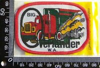 VINTAGE BIG OVERLANDER WA EMBROIDERED SOUVENIR PATCH WOVEN CLOTH SEW-ON BADGE