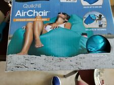 Clevermade Quikfill Air Chair Recliner Outdoor / Hold 500 lbs - Blue
