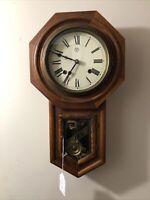 Vintage / Antique TRADE MARK Regulator Wall Clock Working