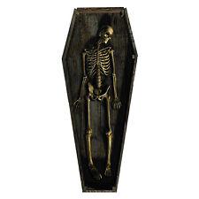 SKELETON COFFIN Casket CARDBOARD CUTOUT Standup Standee Scary Halloween Prop