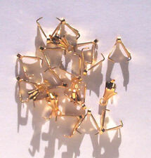 50 gold plated 8mm pendant clamps, findings for jewellery making crafts