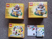 LEGO BIRTHDAY BUNDLE 40153, 850791, 5004931 NEW AND SEALED