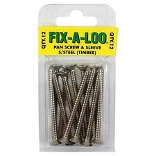Fix-A-Loo Timber Floor Pan Screws Stainless Steel - 12pc, Australian Brand