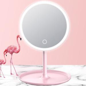 Screen Switch LED Backlit Makeup Mirror Natural White Light Desk Mirror UK
