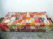 patchwork Kantha Quilt Handmade Cotton Bedspread Counterpane Bedding Throw PA97