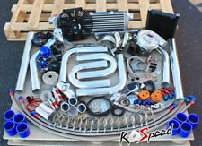 MAZDA FORD DURATEC 2.3/2.5 T04E TURBO CHARGER STAGE 2 KIT INTERCOOLER DIY PIPING